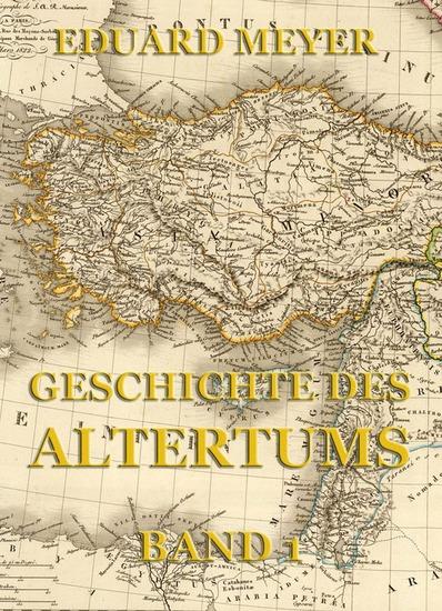 Geschichte des Altertums Band 1 - Erweiterte Ausgabe - cover