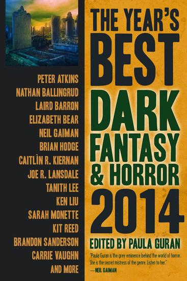 The Year's Best Dark Fantasy & Horror 2014 Edition - cover