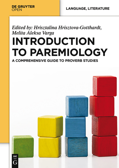 Introduction to Paremiology - A Comprehensive Guide to Proverb Studies - cover