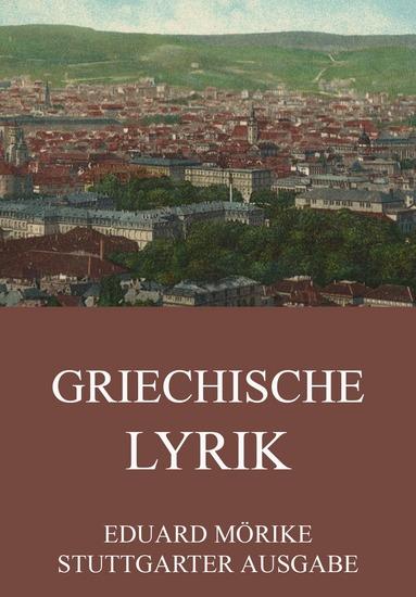 Griechische Lyrik - Erweiterte Ausgabe - cover