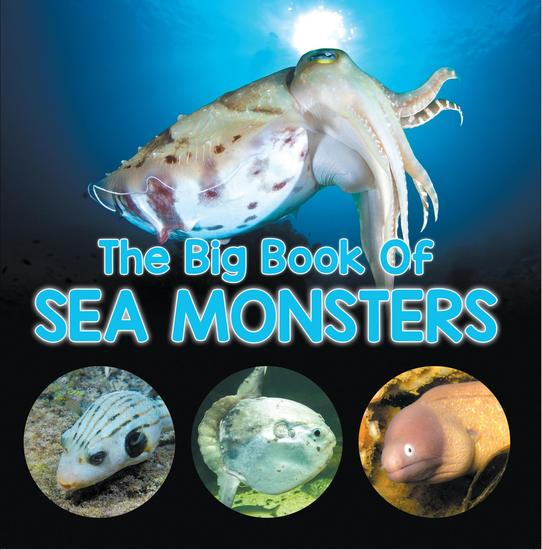 The Big Book Of Sea Monsters (Scary Looking Sea Animals) - Animal Encyclopedia for Kids - cover